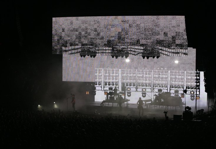 Light Effects from NIN Concert