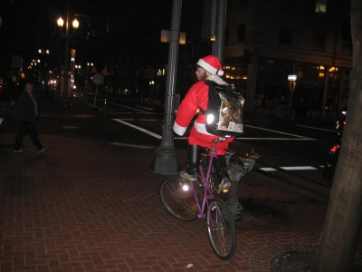 Santa on His Custom Bike December 6