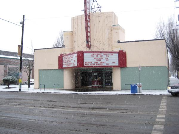 Laurelhurst Theater in Snow