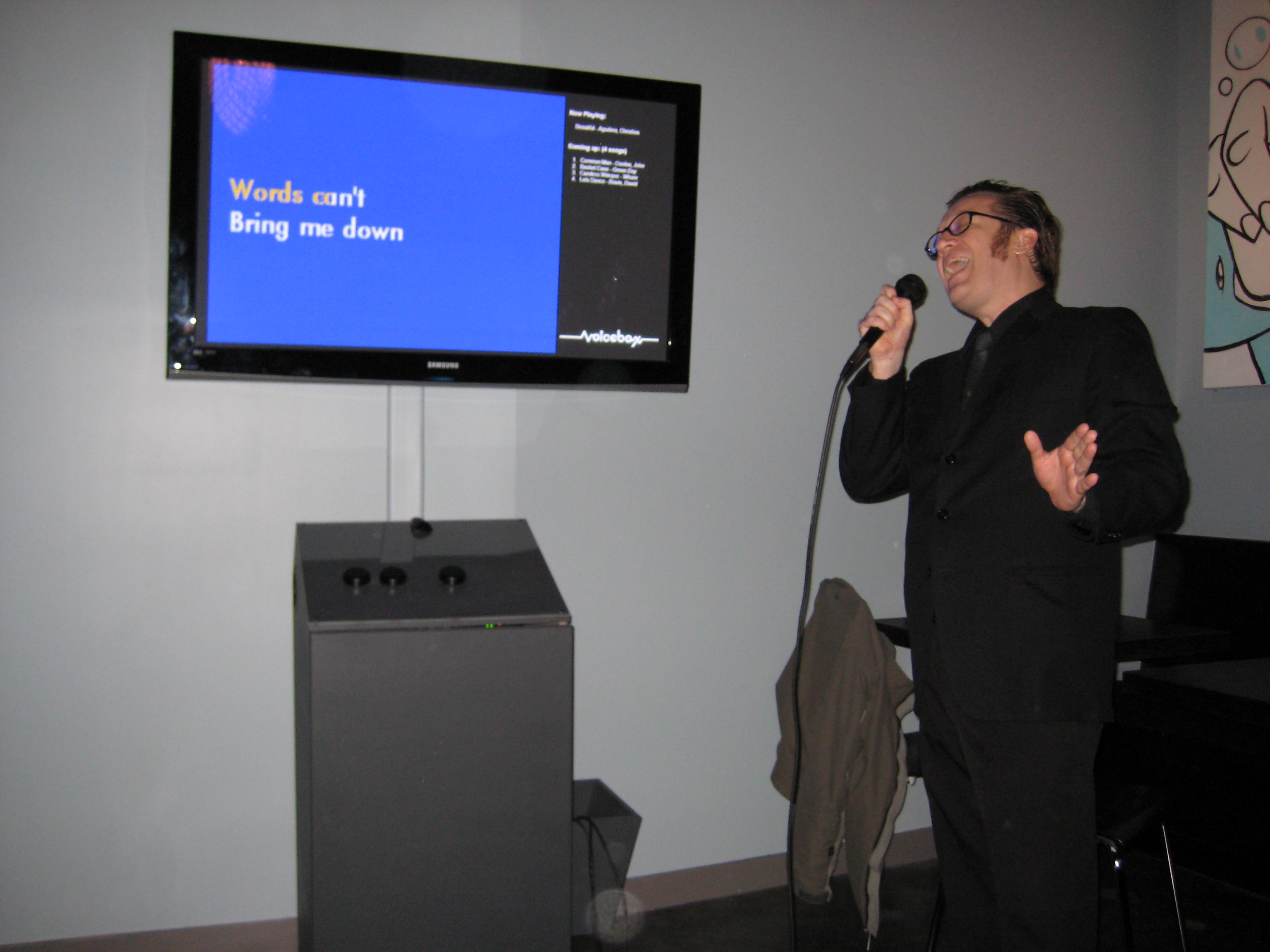 Jamie S. Rich Serenades at Voicebox Karaoke
