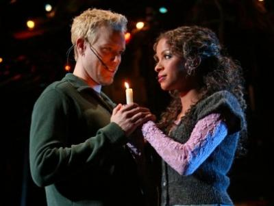 Adam Pascal and Lexi Lawson
