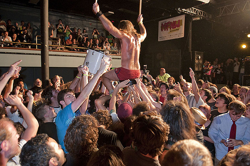 Monotonix - The Crowd is The Stage (photo: Ken Aaron Neighborhood Notes)