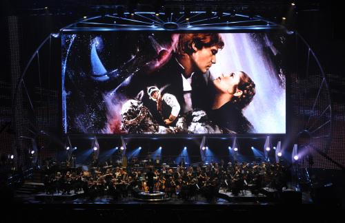STAR WARS: Episode V - The Empire Strikes Back key art onscreen during Star Wars™: In Concert.