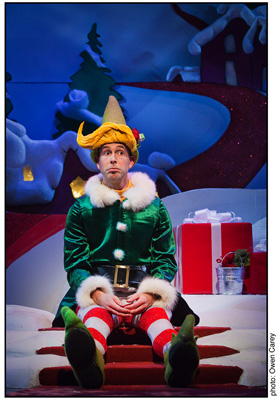 Wade McCollum in Portland Center Stage's The Santaland Diaries