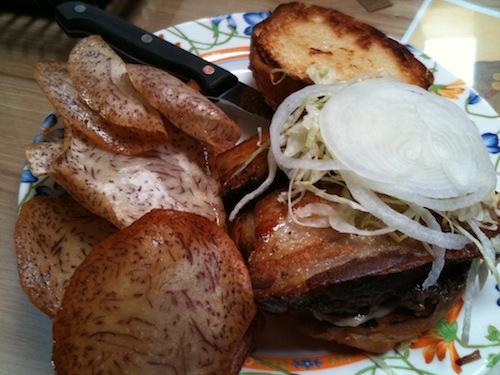 Ate-Oh-Ate Island Burger