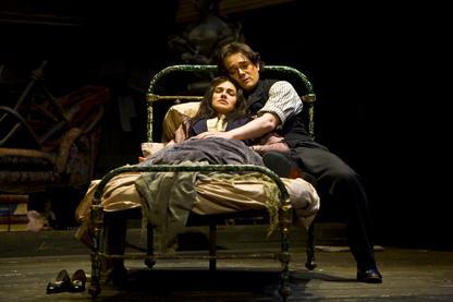Mimi (Kelly Kaduce) and Rodolfo (Arturo Chacon-Cruz) Act III