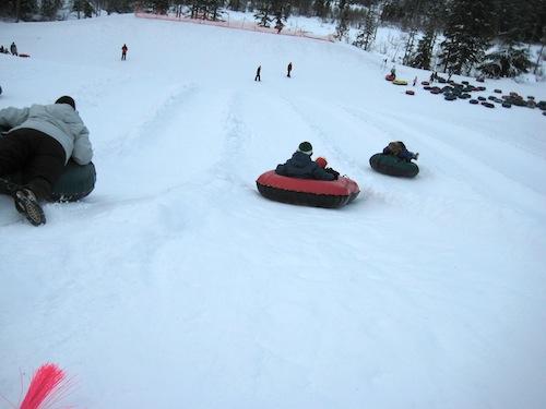 Inner Tubing at Skibowl at Mt. Hood