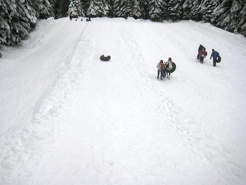 Snow Bunny Inner Tubing Mt. Hood
